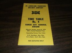 April 1979 Frisco Slsf Kansas City Terminal Division Employee Timetable 4