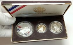 1989 United States Us 200th Congress Proof Gold Silver 3 Coin Gift Set I76161