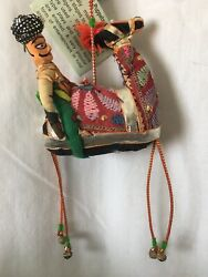 Rajastani Puppet Camel And Rider Christmas Tree Ornament Punch And Judy India