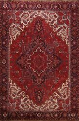 Vintage Traditional Geometric Area Rug Handmade Oriental Dining Room Carpet 9x11