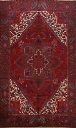Excellent Vintage Geometric Traditional Area Rug Hand-knotted Wool Carpet 9x12