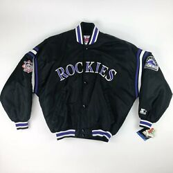 Nwt Vtg Mlb Colorado Rockies Starter Authentic Diamond Collection Jacket Adult L