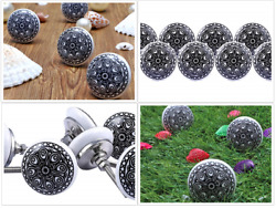 Colorful Door Ceramic Knobs Cupboard Cabinets Round Pull Knobs Kitchen Knobs