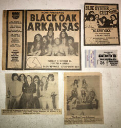 Blue Oyster Cult 26th-oct- 1977 Omaha Black Oak -rare Ticket Stub And Concert Ad's