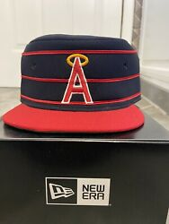 Vintage California Angels Anaheim Pillbox Fitted Hat Cap Size 7 1/8 Mlb 1970's