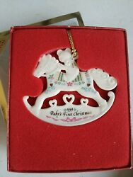 1999 Lenox Baby's First 1st Christmas Rocking Horse Ornament