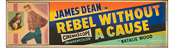 Poster Rebel Without A Cause 1955 Banner 24x82 Fine James Dean Natalie Wood