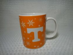 Tennessee Volunteers Winter Christmas Coffee Mug Cup Snowflakes Orange And White