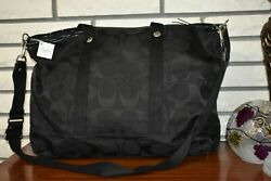 COACH LARGE BLACK TRAVEL TOTE NWT $149.00