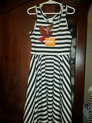Gymboree Girls Striped Sleeveless Dress Size 7 Sequins NWT