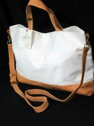 Hearth amp; Hand with Magnolia Canvas Leather Satchel Crossbody Tote Bag Gaines $39.99
