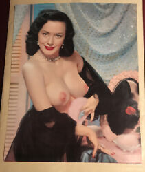 1950andrsquos 16 X 20 Color Calendar Poster Size Sexy Pinup Risque Evelyn West