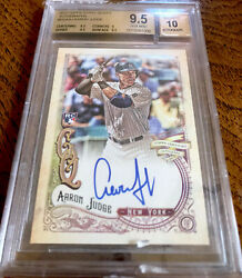 2017 Topps Gypsy Queen Rookie Rc Autographs Aaron Judge Bgs 9.5 10 Auto Yankees