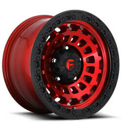 18x9 Fuel Wheels D632 Zephyr 5x127.00 Candy Red Black Ring Off Road 1 S41