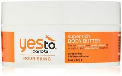 Yes To Carrots Nourishing Super Rich Body Butter 6 Oz