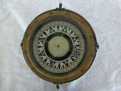 Wwii Japanese Saura Seisakusho Brass Boat Compass Without Box