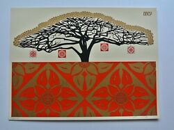 Monkey Pod - Red 2006 Signed/numbered Screen Print Obey Shepard Fairey
