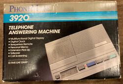Phonemate Telephone Answering Machine 3920 Vintage New In Box Old Stock