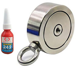 1200 Lbs Combined Pulling Force Brute Magnetics Double Sided Round Magnet