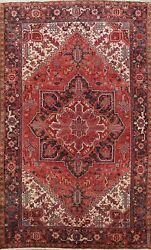 Geometric Semi Antique Traditional Area Rug Hand-knotted Oriental Carpet 8x11