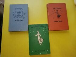 Vintage 1935-1952 Three First Editions Of Mary Poppins Trio Of Books Rare
