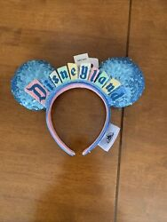 2020 Disneyland Disney Parks Marquee Logo Sign Minnie Ears Exclusive In Hand