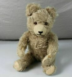 Antique 1920-30 Years Teddy Bear With Straw Filling - 40 Cm. - 0.5 Kg.