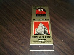 Canadian Pacific Railroad Royal York Hotel Toronto Used Matchbook Cover
