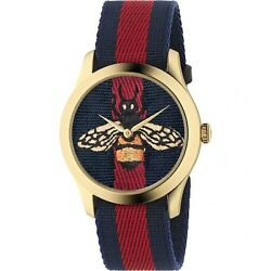 Ya1264061 Menand039s G-timeless Blue And Red Quartz Watch