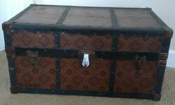 Vintage Cass Toys Doll Steamer Trunk Case Metal Drawers And Clothing 1940's