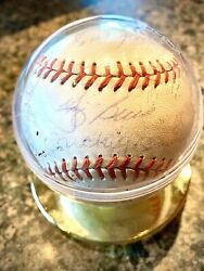 1962 Yankees Ws Champs 22 Signatures Autographed Baseball W/ Berra Ford+ Jsa