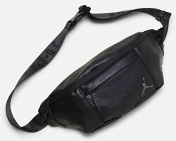 Nike Air Jordan Jumpman Cross Body Fanny Pack Black Shoulder Waist Bag 9A0170 $42.74
