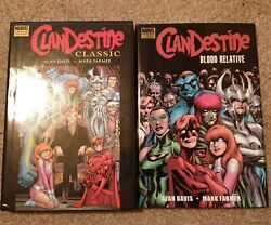 Clandestine Classic And Blood Relative Hardcovers Premiere Edition Alan Davis