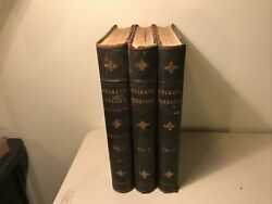 Antique Books - Animate Creation Book Set From 1885 - Volumes I, Ii, And Iii