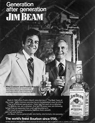 8b03-673 Fredric March Mike Touch Connors Jim Beam Bourbon Ad 8b03-673