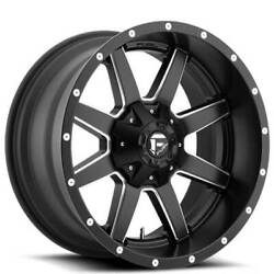 22x14 Fuel Wheels D538 Maverick 8x165.10 Matte Black Milled -76 S43