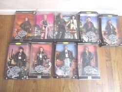 Lot Of 9 Harley Davidson Barbie 1,2,3,4,5, - Ken 1 And 2 And 50th Ann And Gift Set