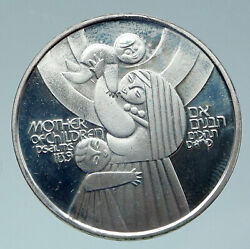 1979 Israel Mother Of Children Psalms Antique Proof Silver 50 Lirot Coin I86469