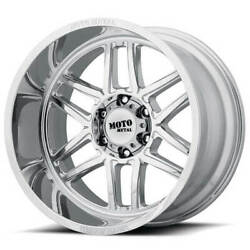 4ea 20x9 Moto Metal Wheels Mo992 Chrome Off Road Rimss43