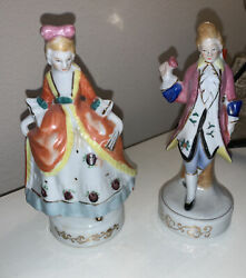 Victorian Man Woman Made In Occupied Japan Porcelain Figurines