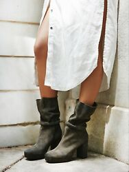 New Free People Iris Suede Mid Boot Size 11 Msrp 298