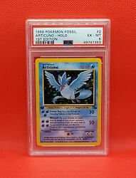PSA FIRST EDITION ARTICUNO 2 62 HOLO POKEMON CARD 1999 FOSSIL 1ST ED