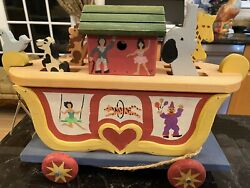 Heritage Toys And Collectibles Musical Circus Wagon Animal Pull Toy Rare Signed