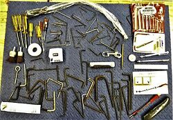 Vintage Odd Lot Tools And Parts From Machinists Tool Box. Lot 3