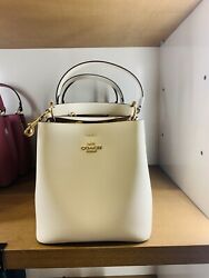 NWT Coach Small Town Bucket Bag Leather 100% authentic Beige Color $209.00