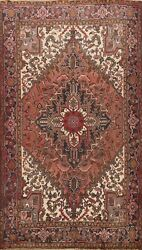 Vintage Traditional Area Rug Hand-knotted Wool Oriental Home Decor Carpet 7'x9'