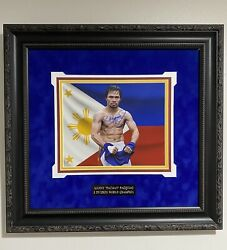 Manny Pacquiao Signed 8x10 Photo Picture In Custom Frame