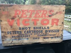 Dupont Peters Victor [remington Arms_bridgeport, Conn.] Wood Ammo Box Crate