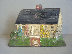 Vintage Cast Iron Doorstop Cape Cod House Albany Foundry