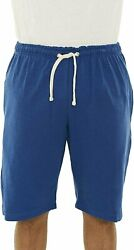 Republic Blue Menand039s Sweat Shorts Fleece Cotton Jogger Gym Shorts With Pockets